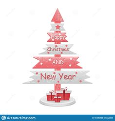 Illustration about Decorative abstract spruce for decoration .Isolated on a white background. Gifts and congratulations for New Year and Christmas. Illustration of decor, element, congratulations - 164353068 Christmas And New Year, Winter Collection, Congratulations, Abstract, Illustration, Gifts, Decor, Summary, Presents