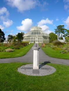 The National Botanic Gardens Glasnevin is a short taxi ride from the center of Dublin Ireland. The Garden's Victorian glasshouses are superb and its gentle river and streams offer peaceful vistas. They are renowned for conservation work with the flora of Ireland.    Photo by Vanessa Crews, 29 Sep 2010