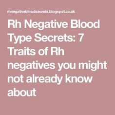 7 Best Rh Negative Blood images in 2018 | Type o negative