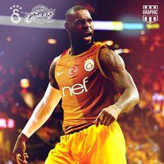 LebronJames'e Galatasaray forması giydirdiler.. #galatasaray, #lebronjames, #cimbom, #aglamafener, #uefa, #fifa