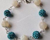 Turquoise beaded bracelet #handmadebymand #etsy #etsyuk #etsyseller #etsyselleruk #etsystore #etsyshop #jewellery #wedding #bridesmaid #motherofthebride #beads  #ccc #htlmp #pagepal #crook #uk #Durham
