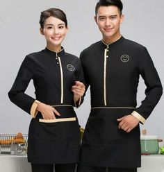 Chinese restaurant uniforms chinese hotel waiter uniforms restaurant waitress un Cafe Uniform, Salon Uniform, Waiter Uniform, Spa Uniform, Hotel Uniform, Staff Uniforms, Work Uniforms, Kellner Uniform, Waitress Outfit