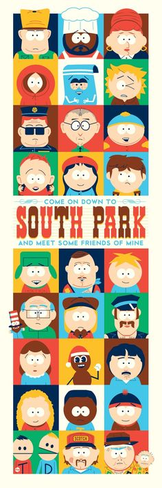South+Park+-+Come+On+Down+To+South+Park+And+Meet+Some+Friends+Of+Mine+by+Dave+Perillo.jpg (533×1600)