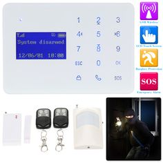 Cheap sos gsm, Buy Quality sos kit directly from China sos alarm systems Suppliers: Wireless GSM Alarm System 433MHz SMS Home Burlar Security Alarm System LCD Display Wired Siren Kit 2 Wired Defence Zone SOS