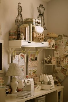 Love the wall pockets hanging from the shelf brackets.  May have to move my memo board.