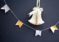 If you're looking for some quick DIY Christmas decorations for your walls this holiday season, then you will love this Beyond Easy Silver and Gold Garland Idea.All you need is a few materials and you will have some minimal yet pretty DIY garland. Quick Diy Christmas Decorations, Diy Christmas Garland, Diy Garland, Christmas Holidays, Garlands, Christmas Tree, How To Make Garland, Xmas Stockings, The Incredibles