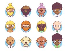 Easily generate characters for your projects. Combine expressions, clothing, hair styles and colors into billions of different unique characters. Embed them on your website, use them in your favourite design software, or import them from the React library! Robot Illustration, Character Illustration, Create Avatar, Kawaii Cute, Free Illustrations, Free Vector Art, Colour Images, Game Design, How To Draw Hands