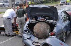 When you go to the salvage yard to buy a wrecking ball don't tell them to just drop it in the trunk