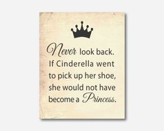 Wall Art  Don't look back  Cinderella by SusanNewberryDesigns, $15.00
