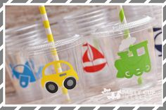 Planes, Trains and Automobiles Birthday Party, Set of 8 or 12 You Choose Party…