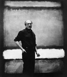Mark Rothko (1903-1970) was een Amerikaanse schilder. In 1913 emigreerde de Joodse familie Rothkowitz van Letland naar deVerenigde StatenRond 1947 brak hij met het surrealisme en wendde hij zich tot de abstractie. Zijn doeken bevatten, op een egaal gekleurde ondergrond, twee of drie rechthoeken in verschillende kleuren, variërend in breedte of hoogte, maar zelden in beide tegelijk.