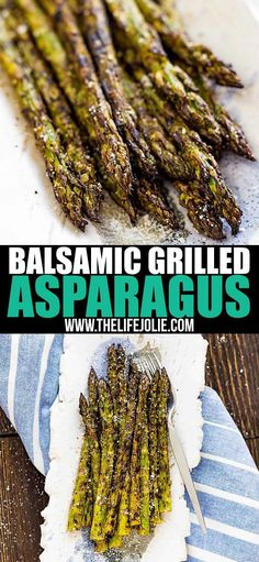 Healthy Recipes This easy Balsamic Grilled Asparagus recipe is the absolute best way to cook asparagus! It only takes 15 minutes and cooks up perfectly on your BBQ for a simple, crispy, healthy and flavorful summer side dish. Ways To Cook Asparagus, Best Asparagus Recipe, Grilled Asparagus Recipes, Baked Asparagus, Grilled Vegetables, How To Grill Asparagus, Parmesan Asparagus, Veggies, Side Dish Recipes