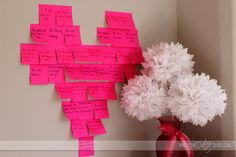 Post It Notes - write the things you love about him (or her). Could leave individual ones in different places throughout the house, or group together in a heart shape.