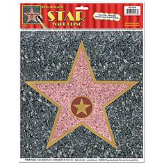 Use Hollywood Sidewalk Stars to create your own walk of fame. Write guests' names on these 11 inch custom walk of fame stars. Cool idea for Hollywood theme Hollywood Birthday Parties, Old Hollywood Party, Hollywood Night, Hollywood Sweet 16, Hollywood Stars, Vintage Hollywood, Hollywood Theme Party Food, Hollywood Bedroom, Hollywood Hair