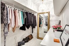 Basement walk-in-closet