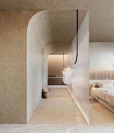 Interior Architecture, Interior And Exterior, Interior Design, Minimal Living, Tadelakt, Apartment Renovation, Ceiling Design, Commercial Design, Interior Inspiration