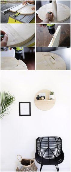 Estante decorativo DIY - themerrythought.com - DIY Circle Shelf