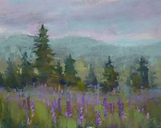 Maine Landscape with Lupines  8x10  by Karen Margulis
