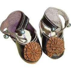 RARE Smaller Size French Doll Shoes
