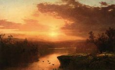 John Frederick Kensett, Sunset Over Lake George, 1867.