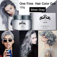Gri Saç Rengi Boya Krem Kerelik Geçici Saç Renklendirme Yıkanabilir DIY Ev Saç Hiçbir Zarar 7 Renkler 120g