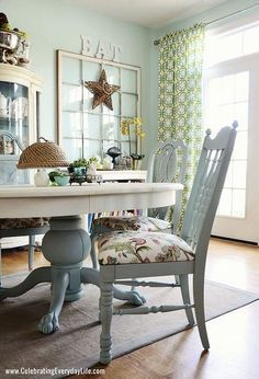 cool Dining Room Table and Chairs Makeover with Annie Sloan Chalk Paint by http://www.top-100-home-decor-pics.club/dining-room-decorating/dining-room-table-and-chairs-makeover-with-annie-sloan-chalk-paint/