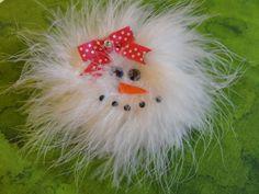 Items similar to Snowman Hair Bow, - Hair Clip Accessory, - Winter Hair Bow on Etsy Ribbon Hair Clips, Hair Ribbons, Ribbon Bows, Fabric Flower Headbands, Fabric Flowers, Christmas Hair Bows, Christmas Crafts, Baby Girl Hair Accessories, Maila