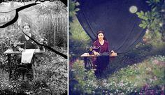 Jane Longo, um fotógrafo australiano, transformou e adicionou um pouco de magia a uma coleção de imagens do artista romeno Costica Acsinte.