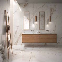 SUPREME EVO: large format porcelain stoneware collection marble effect Modern Contemporary Bathrooms, Modern Master Bathroom, Modern Bathroom Design, Bathroom Interior Design, Master Bathrooms, Minimalist Bathroom, Small Bathrooms, Minimalist Apartment, Contemporary Design