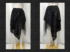 【楽天市場】ゴスパンク ゴシック V系 オパール加工ゾンビアシンメトリーロングスカート黒:PARROT