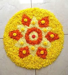 Flower Rangoli, Rangoli Designs, Flower Decorations, Jewelery, Celebration, Bridal, Rugs, Elegant, Simple