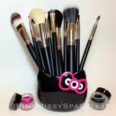 How cute do my RC Cosmetic brushes look in my MAC Limited Edition Hello Kitty cup? These brushes feel amazing and they are about to get a bath along with some other brushes I have been trying out so I can give you all an honest review!! What are your favorite brushes?? I was thinking of compiling all my fav brushes soon and doing a post since there are so many different brands and cuts I like for my brushes. Any other requests? Hope you all had a nice, fun and relaxing long weekend!! Xoxo…