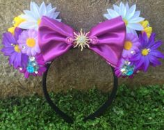 Items similar to Pre-Order Cinderella Mickey Ears 2015 Movie Inspired Minnie Mouse Ears Flower Crown Headband Blue with Butterfly on Etsy Disney Minnie Mouse Ears, Diy Disney Ears, Disney Diy, Disney Crafts, Cute Disney, Disney Stuff, Disney Girls, Mouse Ears Headband, Crown Headband