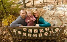 Cute family pose with banner - Merry Christmas Banner  Christmas Photo Prop and by craftyearth, $28.00