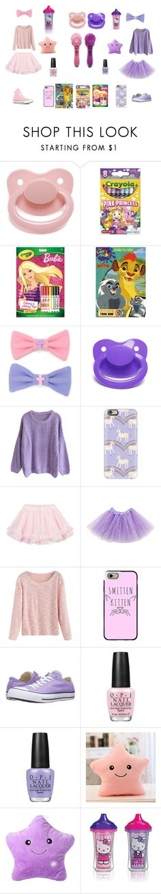 """BFF playdate"" by daddys-lunar-kitten ❤ liked on Polyvore featuring Disney, Casetify, LILI GAUFRETTE, Converse, OPI and Munchkin"