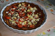 Dýňová pizza s rajčaty