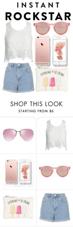 """Shades of You: Sunglass Hut Contest Entry"" by daniela-gurlevska on Polyvore featuring Miu Miu, Sans Souci, Le Specs, New Look, Topshop and shadesofyou"
