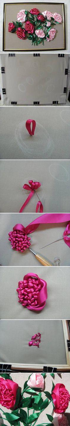 DIY Embroidery Roses DIY Projects   UsefulDIY.com