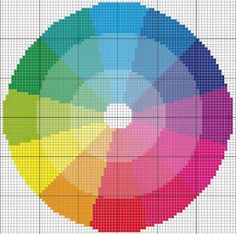 Color Wheel Cross Stitch