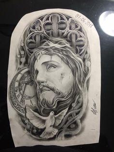 Heaven Tattoos, God Tattoos, Eagle Tattoos, Body Art Tattoos, Sleeve Tattoos, Jesus Tattoo Design, Angel Tattoo Designs, Full Sleeve Tattoo Design, Full Body Tattoo