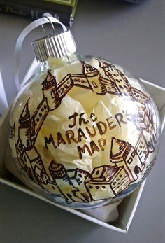 Harry Potter Marauders Map Christmas Ornament by ClarityArtwork