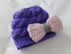 Baby Hat Baby Girl Hat Newborn Hat Photo Prop Baby Knit by Ifonka, $18.00