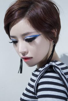 I don't listen to that much K-pop music honestly, but I fell in love with Ga-In of Brown Eyed Girls after seeing her dance in the video for .