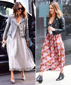 An Analysis of Celebrities' Street Style in New York City Versus Los Angeles - Jessica Alba's Moto Jackets  - from InStyle.com