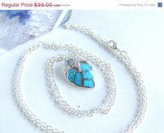 Opal Leaf Necklace Opal Necklace Sterling Silver by AlwaysCrafty77, $28.00