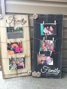 Cute idea to hang in your house. You could also do one for Teens and write friends so they can hang pictures of their friends. - Diy Home Crafts Pallet Art, Pallet Projects, Craft Projects, Craft Ideas, Diy Pallet, Pallet Gift Ideas, Easy Wood Projects, Project Ideas, Decorating Ideas