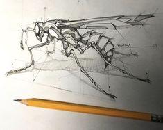 Este posibil ca imaginea să conţină: desen Pencil Art Drawings, Art Drawings Sketches, Cool Drawings, Tattoo Drawings, Tattoos, Animal Sketches, Animal Drawings, Desenho Tattoo, Sketch Inspiration