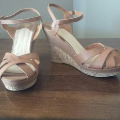 Modcloth tan size 10/11 sandals Cute tan sandals. Worn once to a wedding! Shoes Sandals