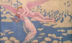 Maurice Denis panel:  Cupid carrying Psyche to Heaven 1909