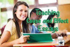 Secondary Solutions - ideas, tips, and tools for the middle and high school English Language Arts teacher - awesome site with tons of great information. Teaching Writing, Teaching English, Teaching Resources, Teaching Ideas, English Teachers, Writing Resources, School Resources, 6th Grade Writing, Cause And Effect Essay